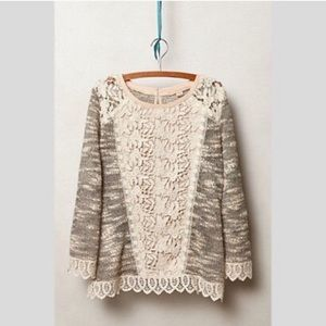 Anthropologie | Champagne & Strawberry sweater